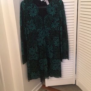 Dark green lace dress size 6
